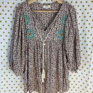 UMGREE boho blouse geometric size XL embroidered